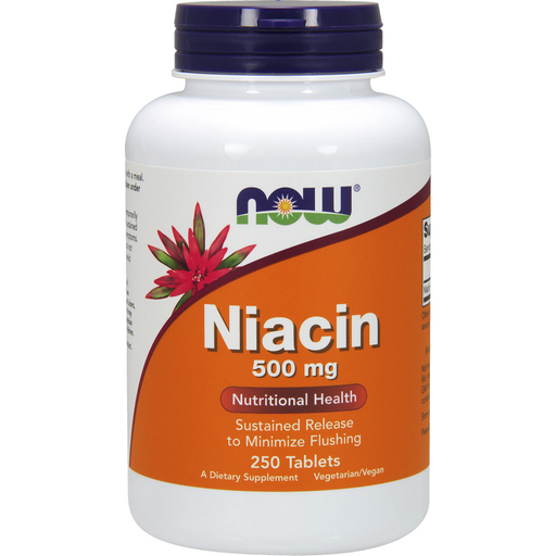 NOW, Niacin 500 mg 250 tabs