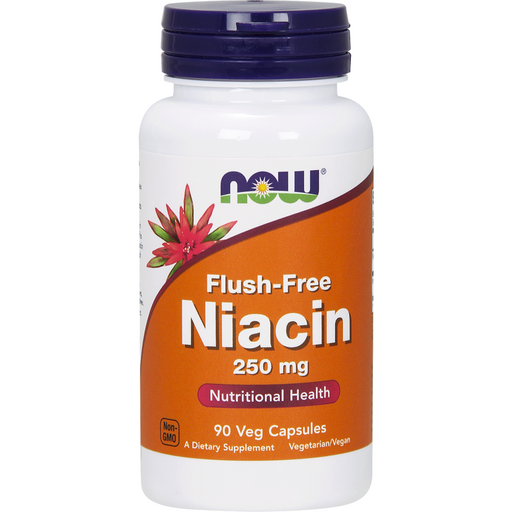 NOW, Flush-Free Niacin 250 mg 90 vcaps