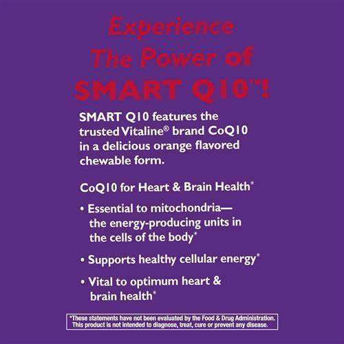 SMART Q10 CoQ10 Orange Creme 100 mg 30 chew by Nature's Way