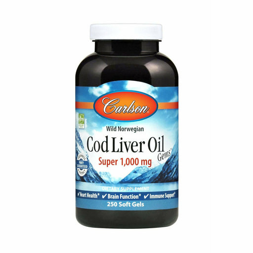 Carlson Labs, Super Cod Liver Oil 1000 mg 250 gels