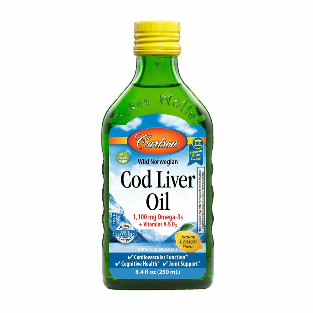 Carlson Labs, Cod Liver Oil Lemon 8.4 fl oz
