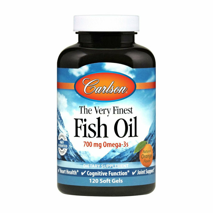 Carlson Labs, Norwegian Fish Oil Orange 1000mg 120gels