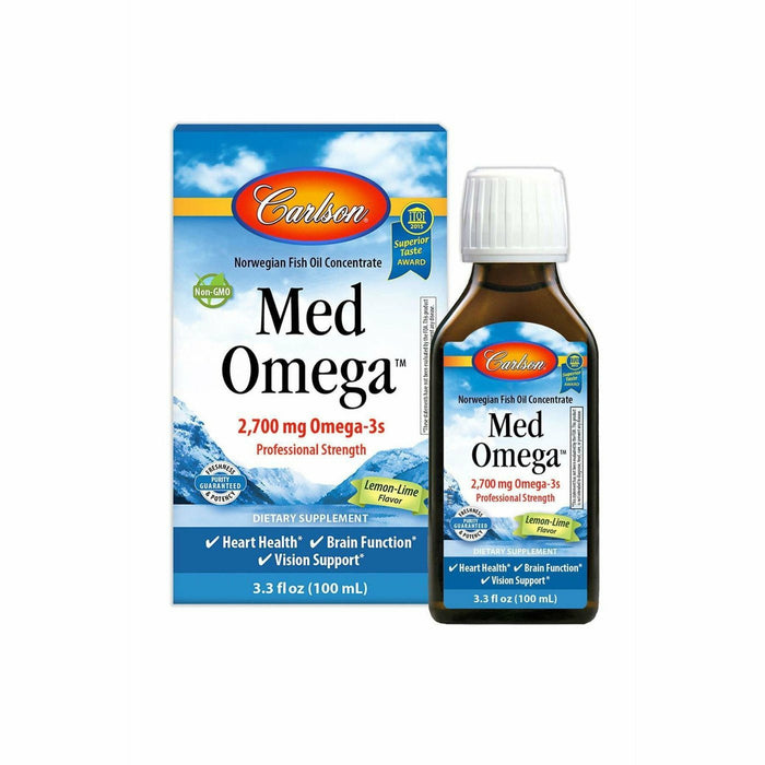 Carlson Labs, MedOmega Fish Oil 2800 3.3 fl oz