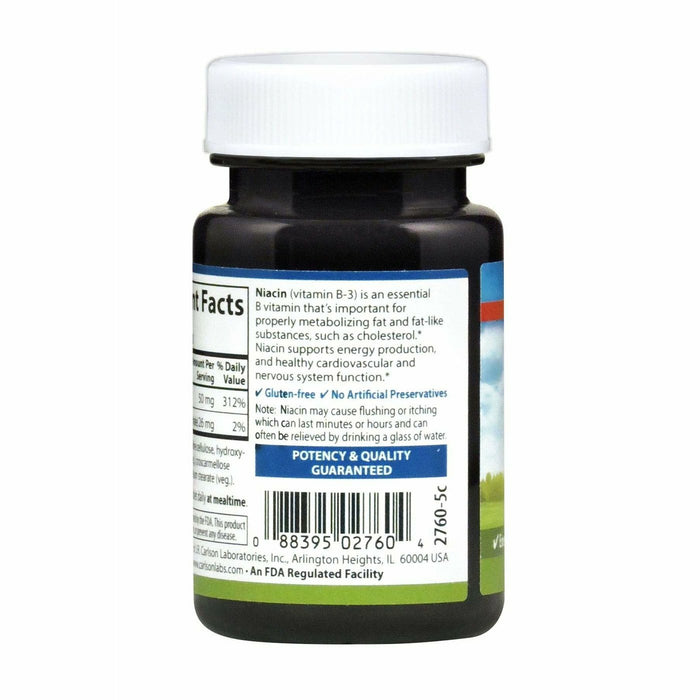 Niacin 50 mg 100 tabs by Carlson Labs