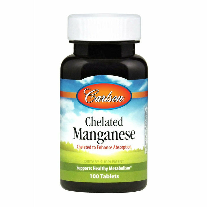 Carlson Labs, Chelated Manganese 20 mg 100 tabs