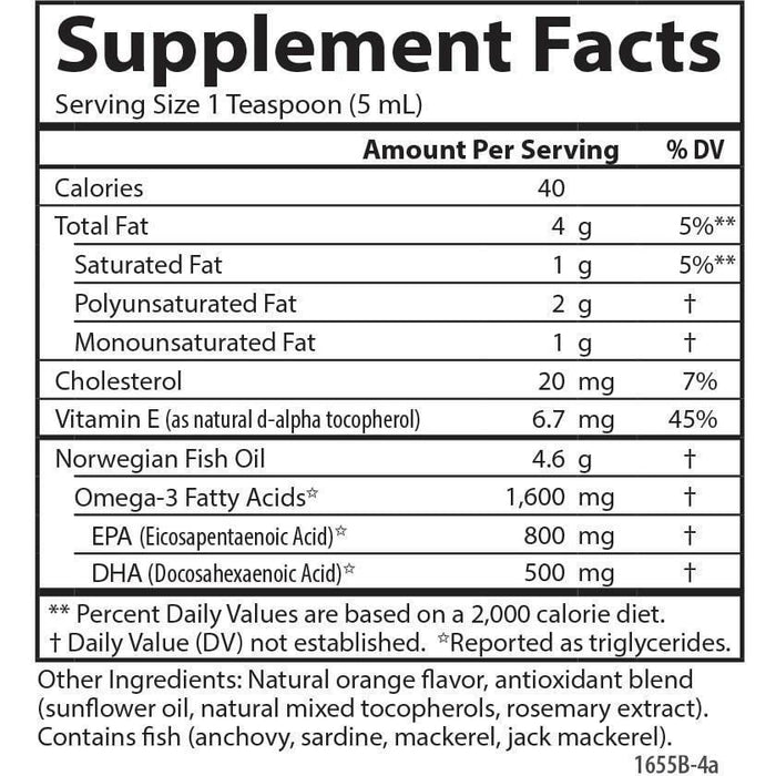 Fish Oil orange 500 ml by Carlson Labs