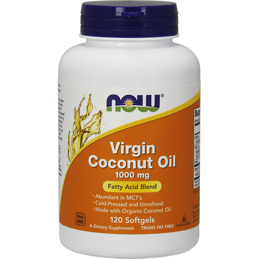NOW, Virgin Coconut Oil 1000 mg 120 softgels
