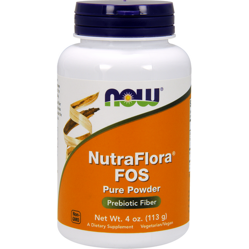 NOW, NutraFlora FOS Powder 4 oz