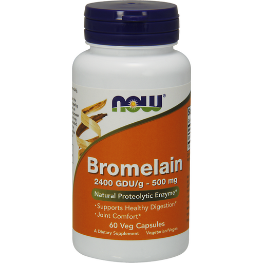 NOW, Bromelain 2400 GDU/g 500 mg 60 vcaps