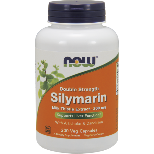 NOW, Silymarin 2X 300 mg 200 vcaps