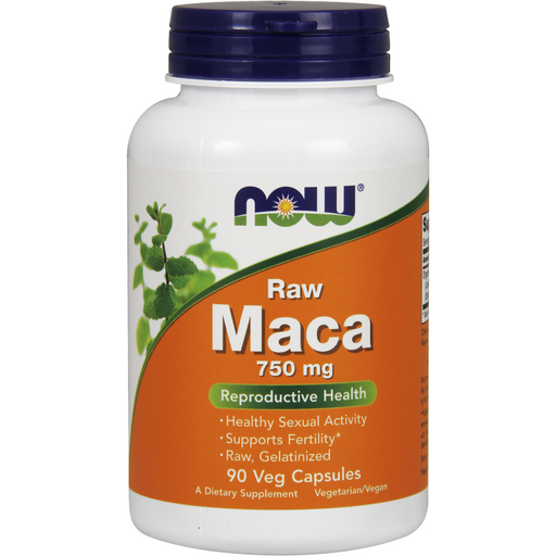 NOW, Raw Maca 750 mg 90 vcaps