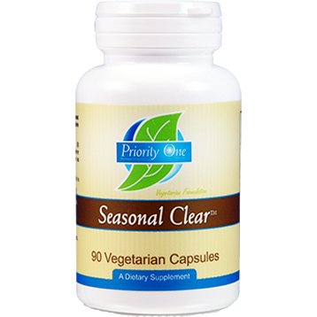 Priority One Vitamins, Seasonal Clear 90 vcaps