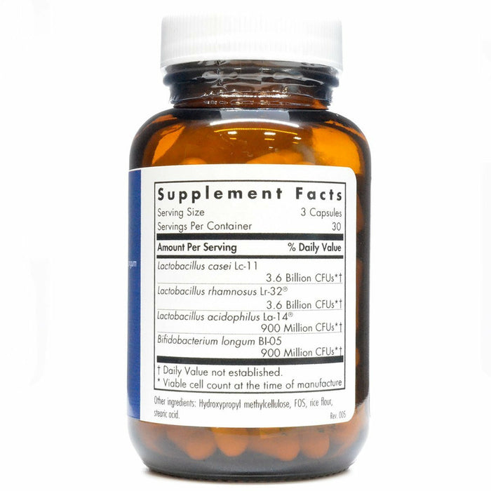 GI Flora 90 caps  by Allergy Research Group Supplement Facts Label
