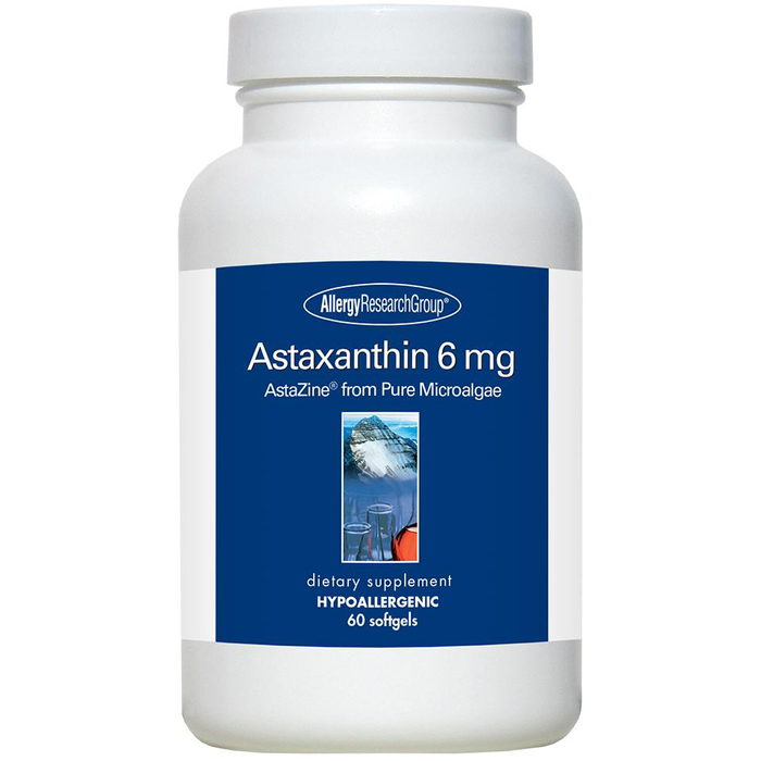 Allergy Research Group, Astaxanthin 6 mg 60 softgels