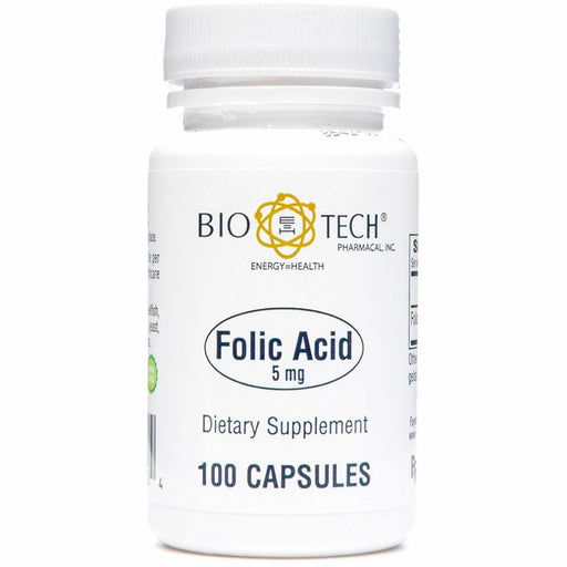 Bio-Tech, Folic Acid 5 mg 100 caps