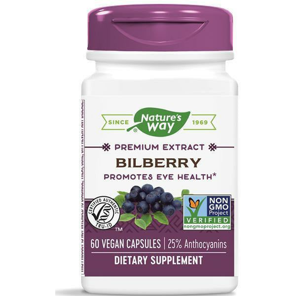 Nature's Way, Bilberry Extract 60 caps