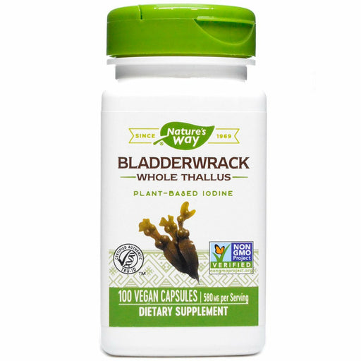 Natures Way, Bladderwrack 580 mg 100 vcaps