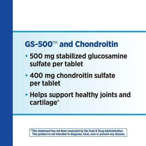 GS-500 & Chondroitin 60 tabs by Nature's Way