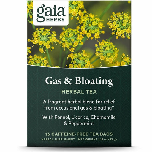 Gaia Herbs, Gas & Bloating Herbal Tea 16 bags