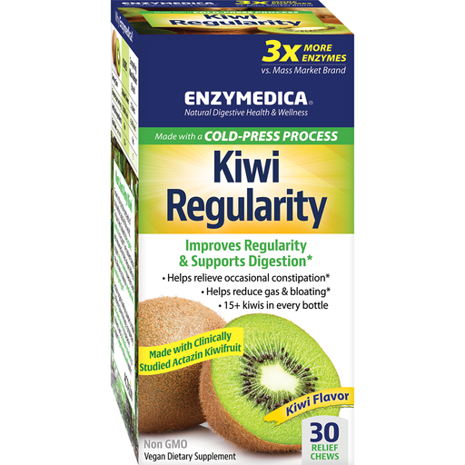 Kiwi Regularity 30 chewables by Enzymedica