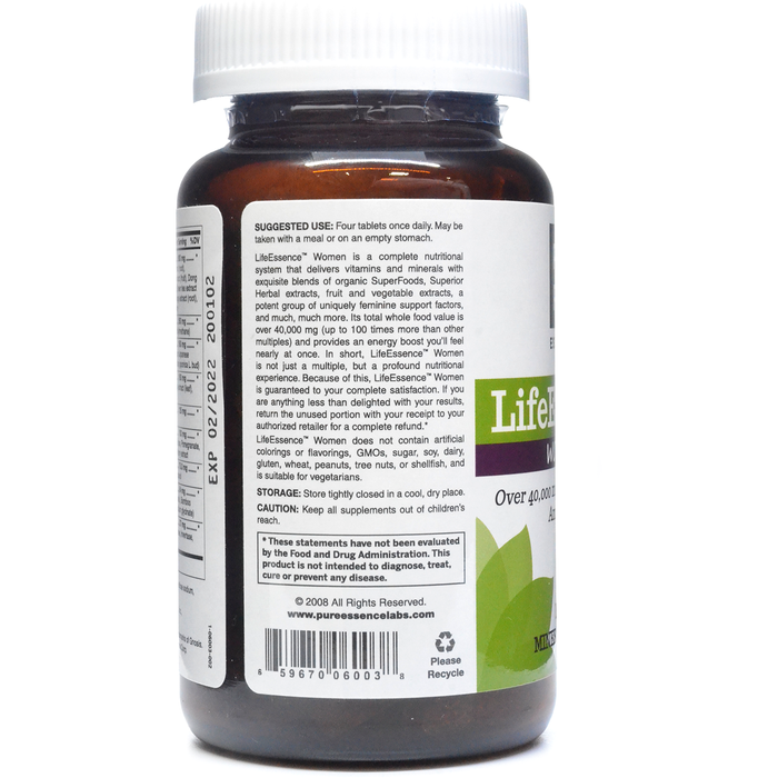 LifeEssence Women Multivitamin 120 tabs by Pure Essence