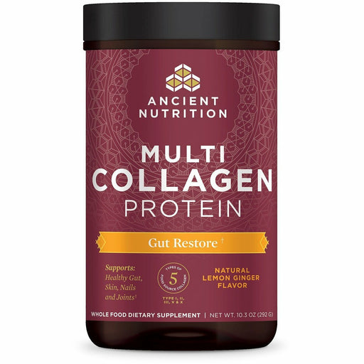 Ancient Nutrition, Multi Collagen Protein Gut Restore (Lemon Ginger)