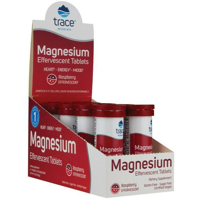 Trace Minerals Research, Magnesium Effer Raspberry 8 tubes - 10ct