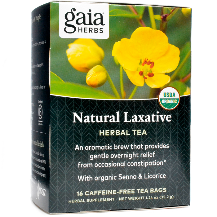 Gaia Herbs, Natural Laxative Herbal Tea 16 bags