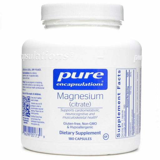 Pure Encapsulations, Magnesium (citrate) 150 mg 180 vcaps