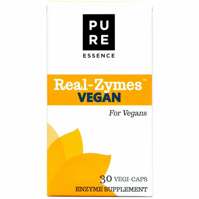 Pure Essence, Real-Zymes- Vegan Digestive Enzymes 30 vcaps