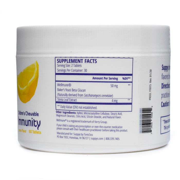 Suppys Immunity Lemon 60 Chewable Tabs by Nutri-Dyn