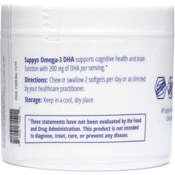Suppys Omega-3 DHA 60 Softgels by Nutri-Dyn