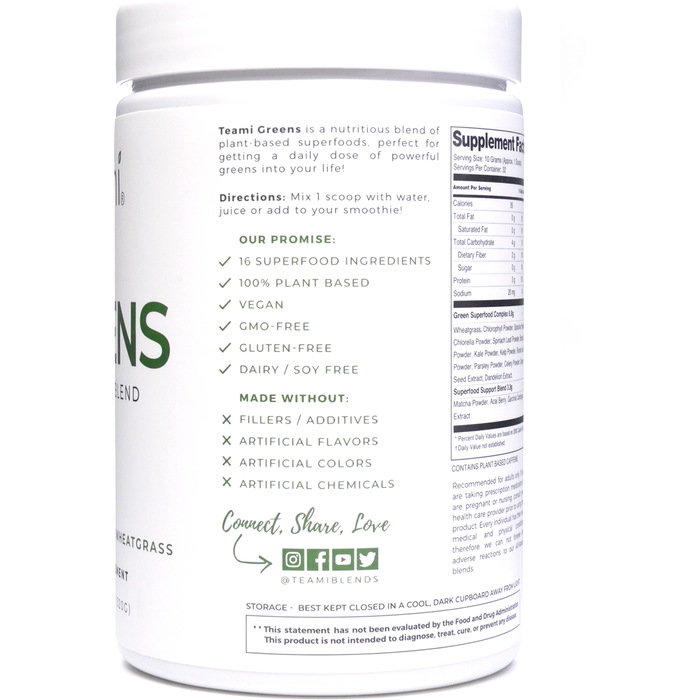 Greens Superfood Powder 11.28 oz by Teami