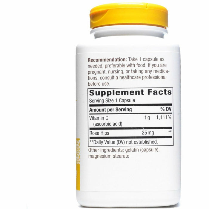 Vitamin C-1000 with Rose Hips 250 caps by Nature's Way Supplement Facts