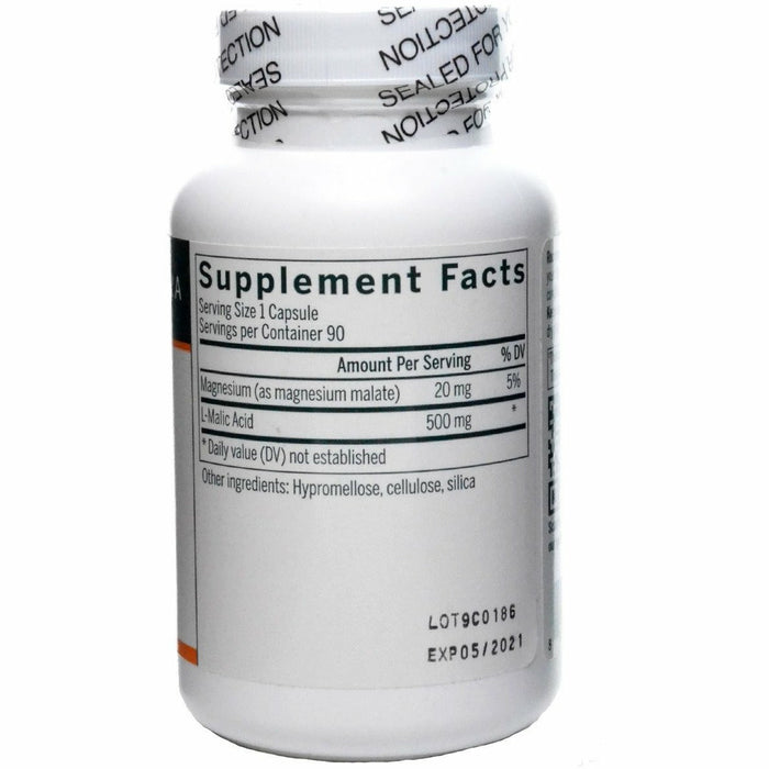 Malic Acid 500 mg 90 vcaps by Seroyal Genestra Supplement Facts