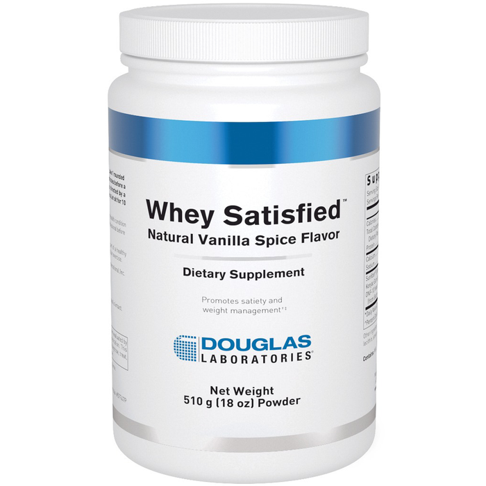 Whey Satisfied Natural Vanilla 510 g (18 oz) by Douglas Labs