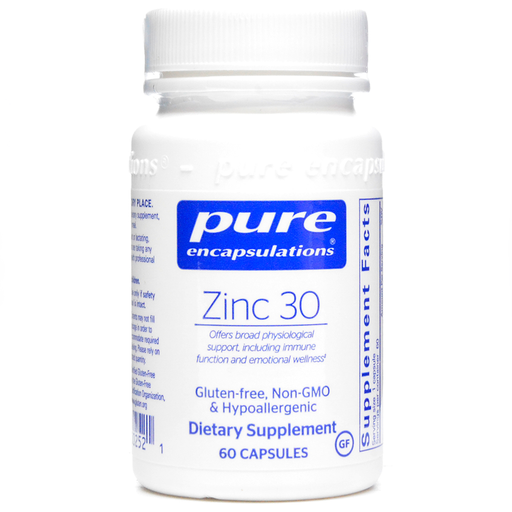 Pure Encapsulations, Zinc 30 60 vcaps