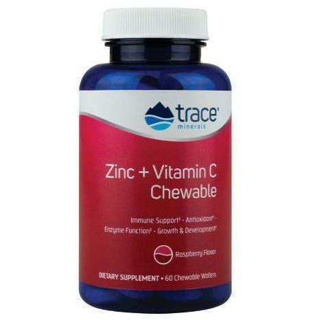 Trace Minerals Research, Zinc + Vitamin C Chews 60 wafers