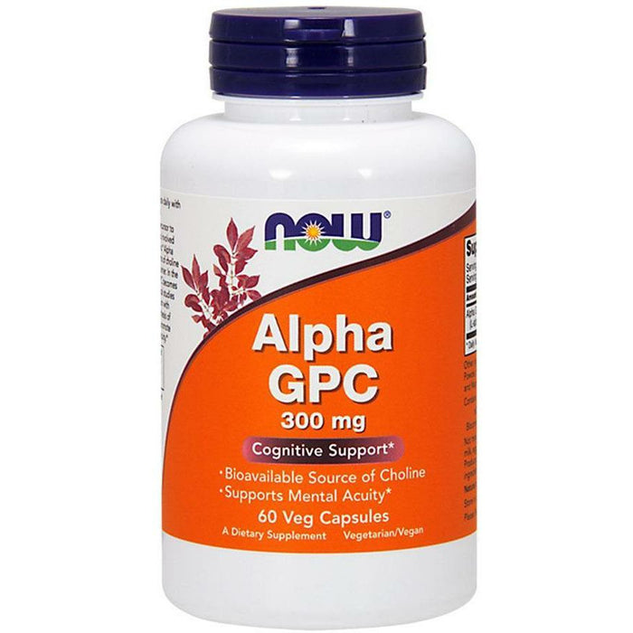 NOW, Alpha GPC 300 mg 60 vcaps