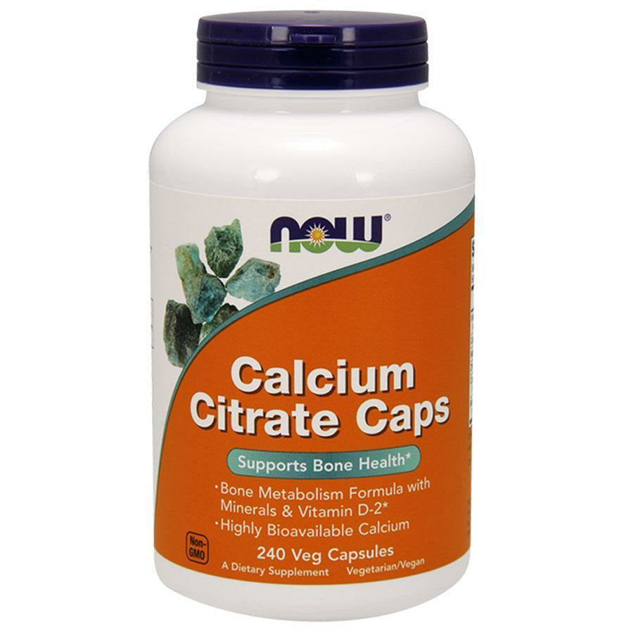 NOW, Calcium Citrate Caps 240 vcaps