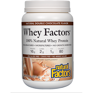 Whey Factors Powder Mix Chocolate 2lbs by Natural Factors
