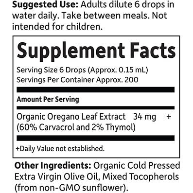 Oil Of Oregano Organic By Garden Of Life