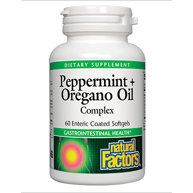 Peppermint & Oregano Oil 60 gels by Natural Factors