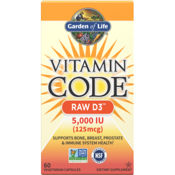 Vitamin Code Raw D3, Garden of Life