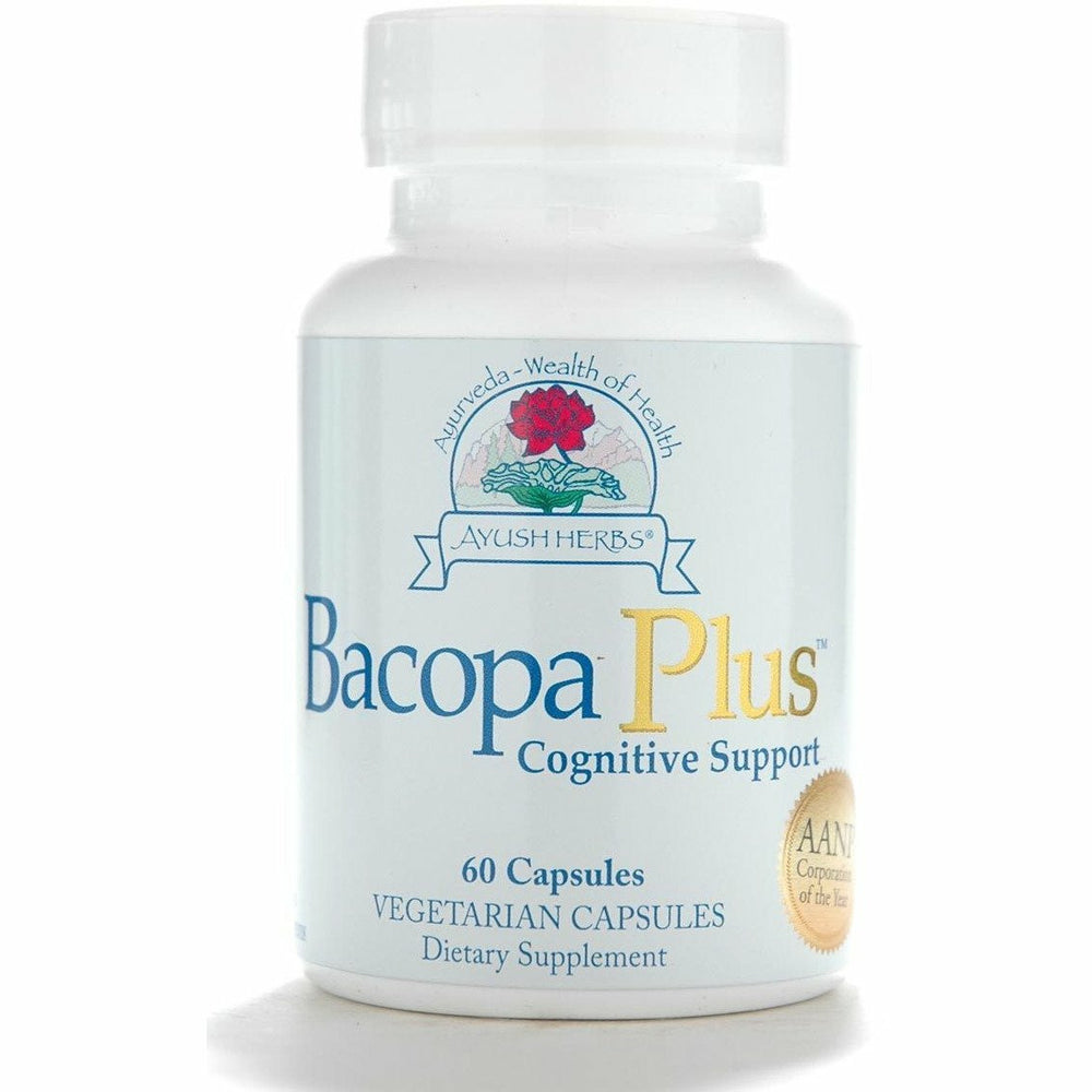 Ayush Herbs, Bacopa Plus 60 vcaps