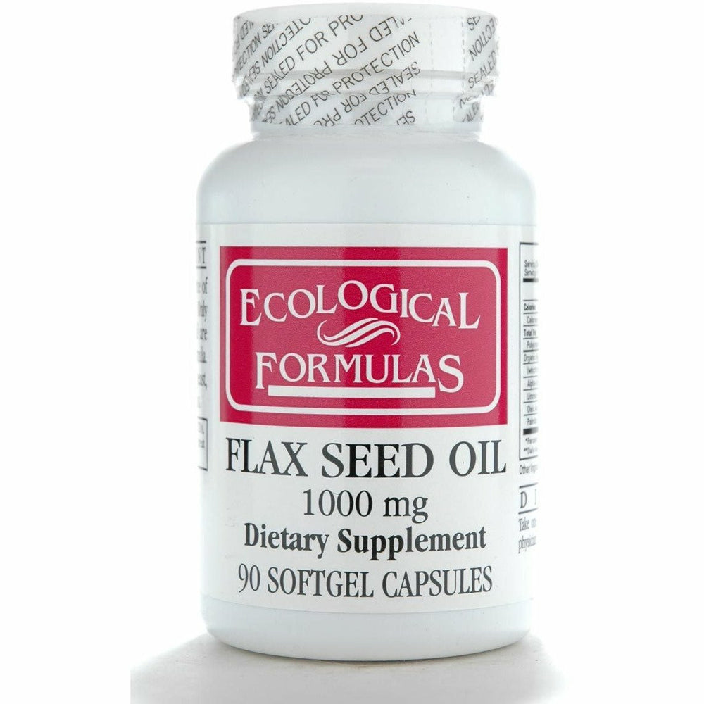Ecological Formulas, Flax Seed Oil (Organic) 90 gels