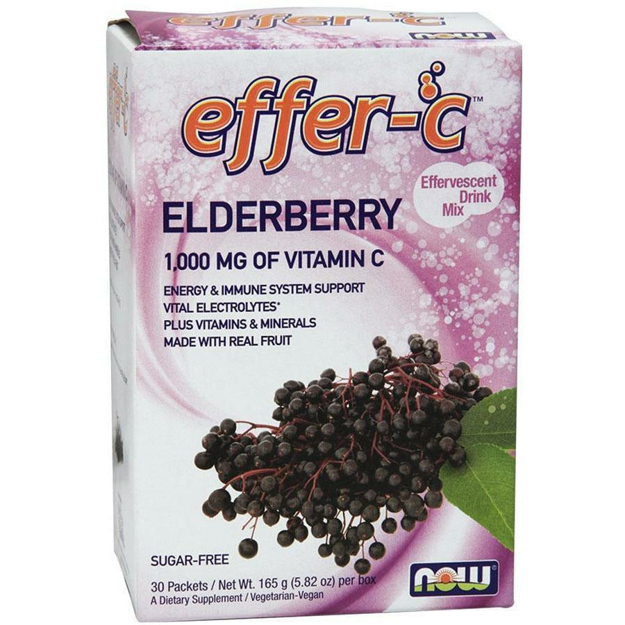 NOW, Effer-C Elderberry 30 pkt