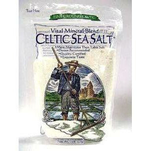 Fine Ground Celtic Sea Salt (Lt.Gr) 1/2lb by Celtic Ocean Int.
