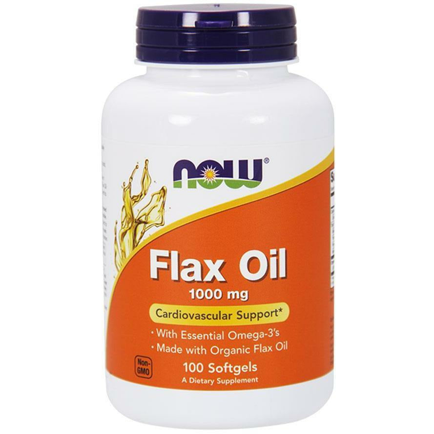 NOW, Flax Oil 1000 mg 120 gels