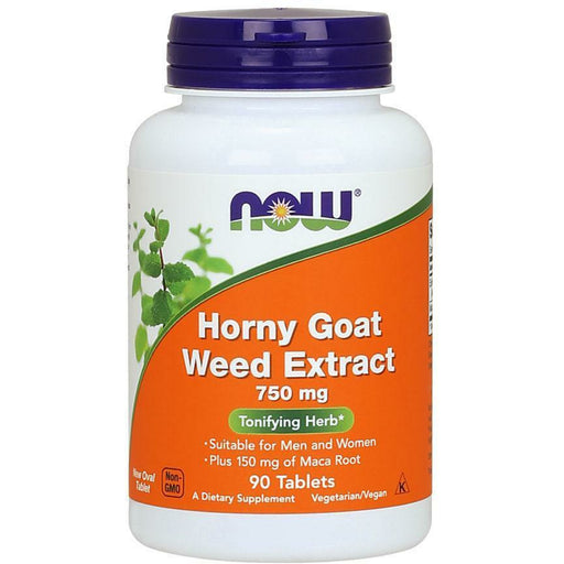 NOW, Horny Goat Weed Extract 750 mg 90 tabs